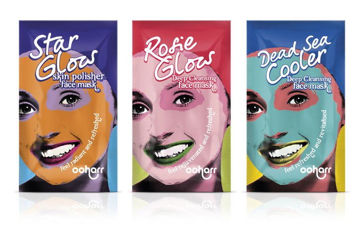 Ooharr Face mask sachet graphic design Gloucestershire