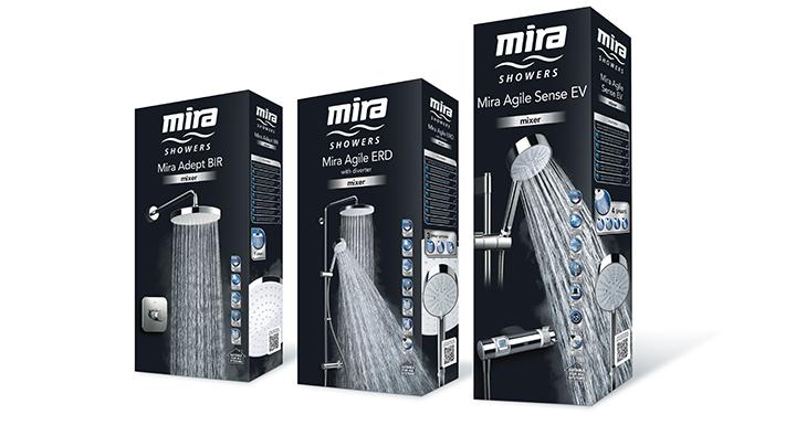 Mira Showers Branding Design