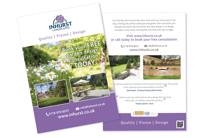 Inhurst Leaflet graphic design Gloucestershire