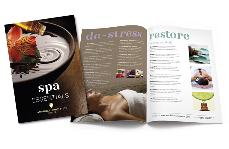 Literature Spa Essentials graphic design Gloucestershire