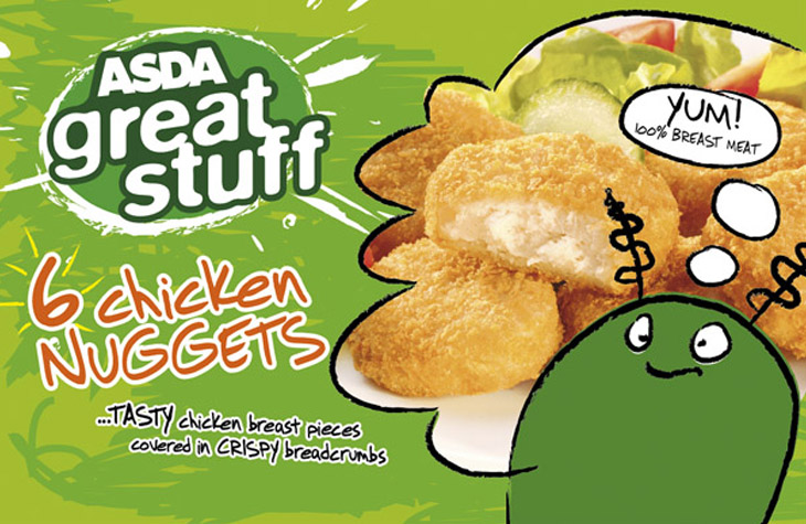 Kids food branding and packaging for ASDA Great Stuff graphic design Gloucestershire