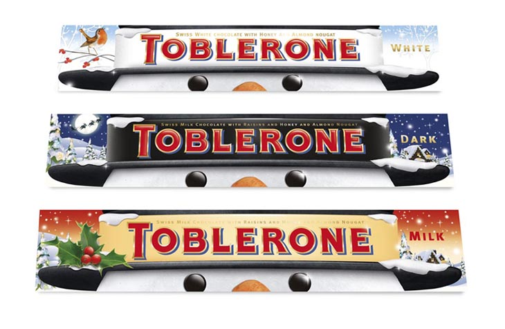 Toblerone Christmas sleeve graphic design Gloucestershire
