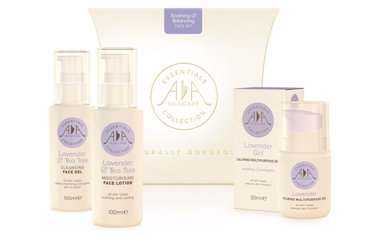 AA Skincare gift packaging graphic design Gloucestershire