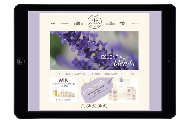 Responsive website design for AA Skincare graphic design Gloucestershire